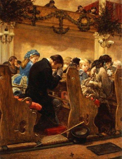 Christmas Prayers Henry Bacon 1839 1912 American