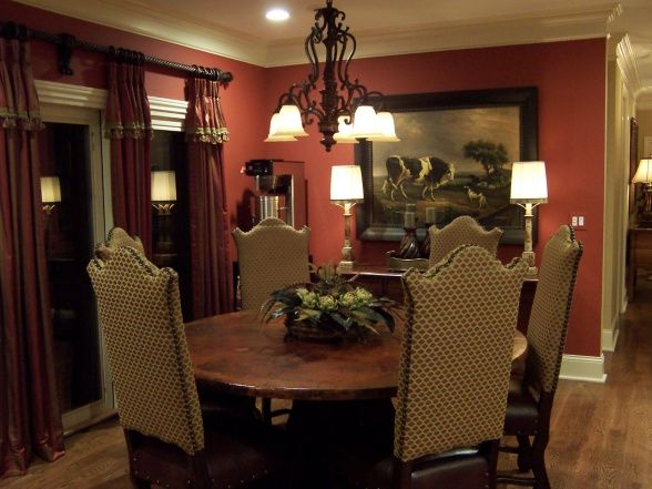 1000 images about red decor on pinterest for Western dining room ideas