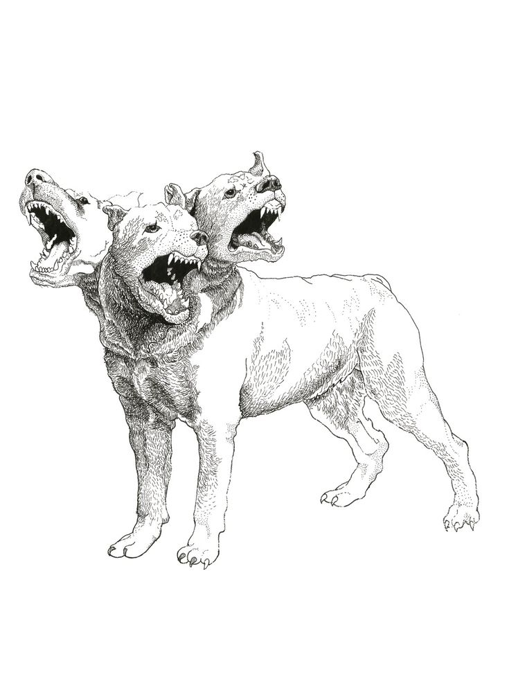 Cerberus ,  in Greek and Roman mythology, is a multi-headed hound (usually three-headed) which guards the gates of the Underworld, to prevent those who have crossed the river Styx from ever escaping. Cerberus featured in many works of ancient Greek and Roman literature and in works of both ancient and modern art and architecture