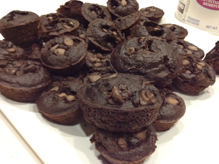 Clean eating chocolate muffin. Greek yogurt, cocoa, applesauce. 58 calories each