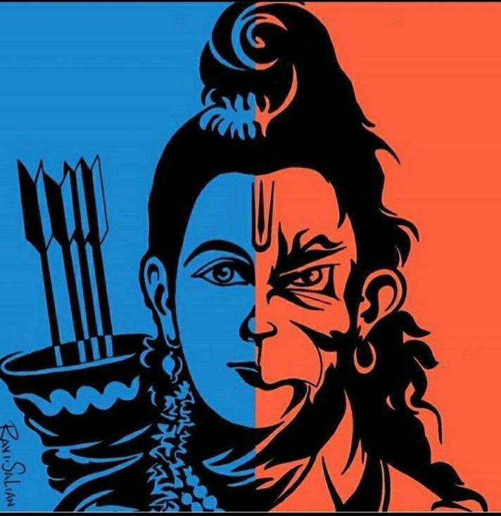 Jay Jay Shree Ram Lord Shiva Painting Hanuman Images Hanumaan Bajrang dal wallpaper hd download