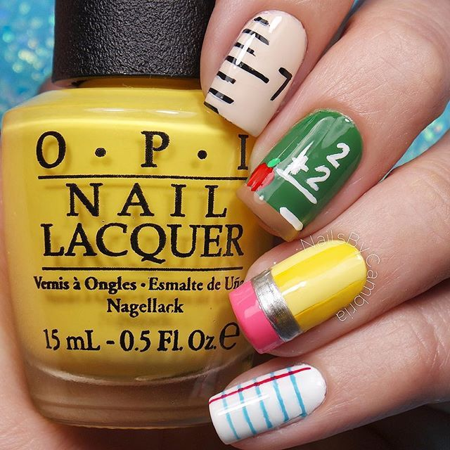 Instagram media nailsbycambria -  Back To School #nail #nails #nailart