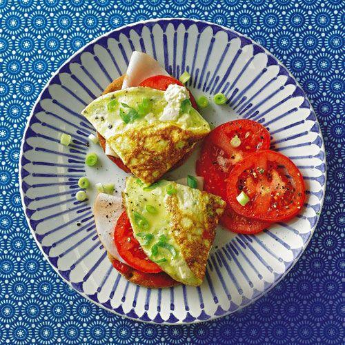 Frittata-Knäcke mit Putenschinken #superfood #diet #yummy #healthy