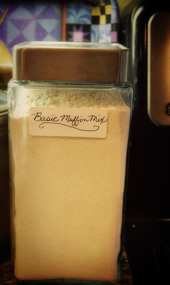 Recipe - Basic Muffin Mix. Portion out several batches ahead of time for ready-to-go muffin makings!