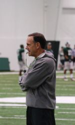 Michigan State head coach Mark Dantonio sent his team through a 2 1/2-hour workout in full pads inside the Duffy Daugherty Football Building on Saturday, Dec. 8, as the Spartans (6-6, 3-5 Big Ten) began preparation for the Dec. 29 Buffalo Wild Wings Bowl against TCU (7-5, 4-5 Big 12).