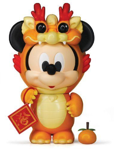 "Disney Play Buddies 3.5"" Play Set - Zodiac Mickey @ Dragon [33155] by Dragon. $25.99. Box size: 210 x 170 x 130mm. Chinese Zodiac Theme - Mickey @ Dragon. 3.5"" height. Play Buddies Collection comprises different Disney characters in a setting that brings customers back to their nostalgic Hong Kong childhood.  In this Zodiac series, Mickey & Minnie pretend Dragon & Snake for celebration of the new prosperous year.                                   Collect the w..."