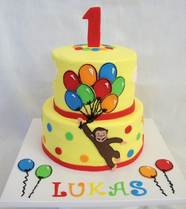 Perfect B-day cake for Lyla even though I am sure she will be grown out of curious George by then!