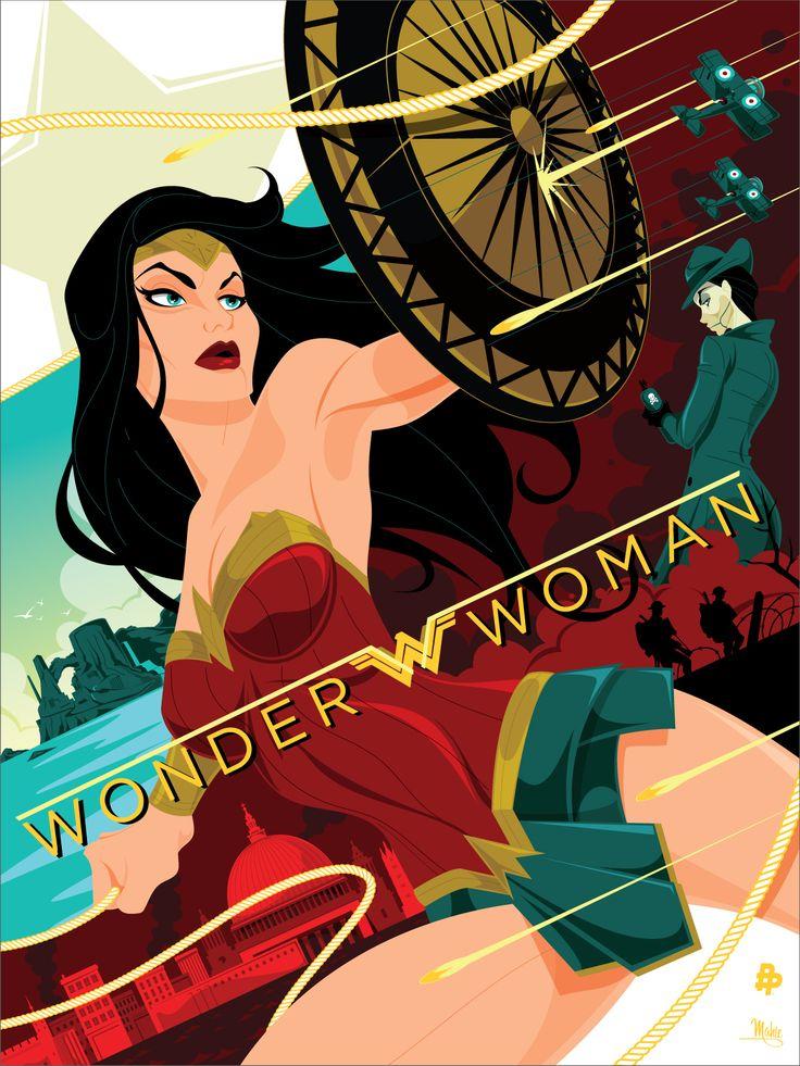 Para celebrar o sucesso do filme e promovê-lo, a Poster Posse lançou uma série de pôsteres ilustrados por diversos artistas. Cada um representa a heroína e seu universo em um estilo diferente e único