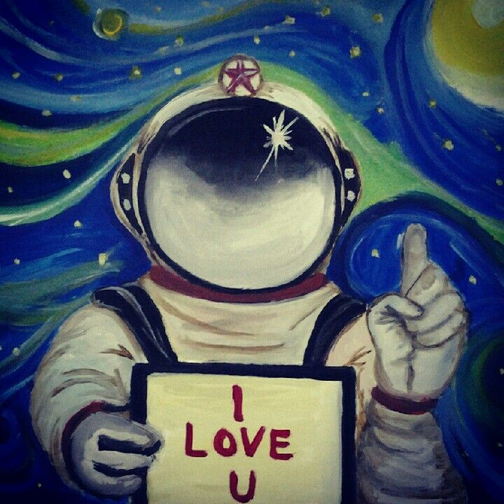 The young astronout with love