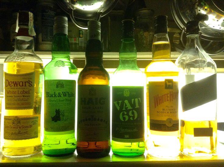 The six best blended scotch whisky:  Dewar's  White Label, Black and White, Haig, Vat 69, White Horse, & Johnnie Walkers Black Label.