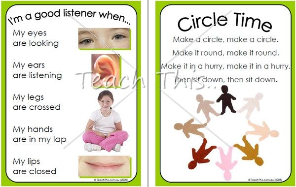 listening skills chart and circle time rhymes printable classroom displays teacher resources. Black Bedroom Furniture Sets. Home Design Ideas