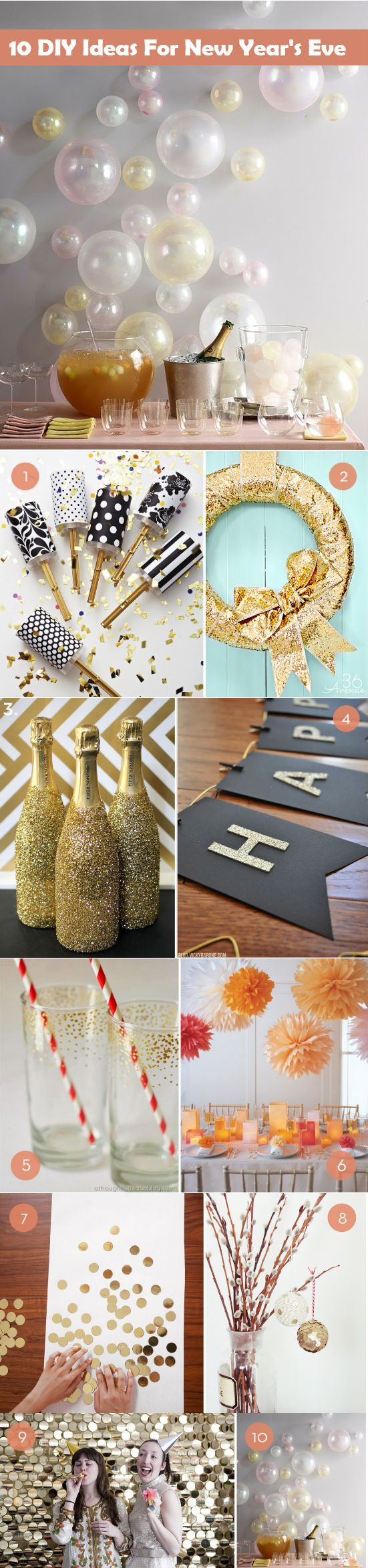 10 DIY Ideas For New Year's Eve