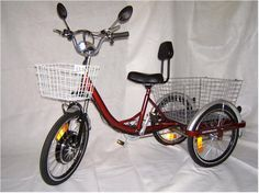 Adult Electric tricycles, electric scooters. Char likes this one.