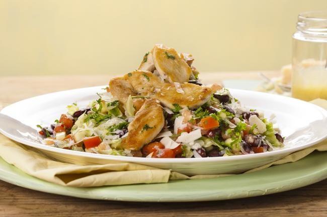 Lett kyllingsalat med bønner