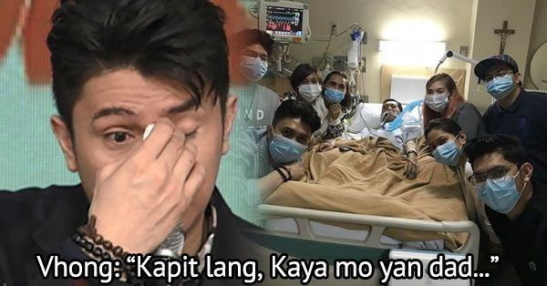 Vhong Navarro encourages his sick father to keep going