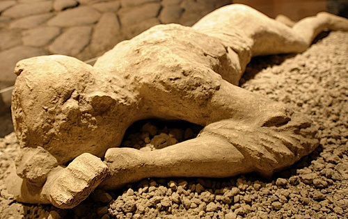 A victim from the city of Pompeii of the 79 A.D. Mt. Vesuvius eruption.