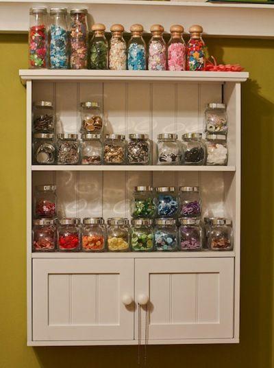 IKEA spice jars and Target bathroom shelves