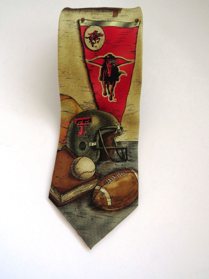 Texas Tech Red Raiders Necktie Collage Baseball Football Basketball Sports Fans #EaglesWings #Tie