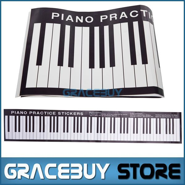 Piano Practice Sticker 122CM Pianno Musical Desk Exercises Keyboard Stickers New For Sale