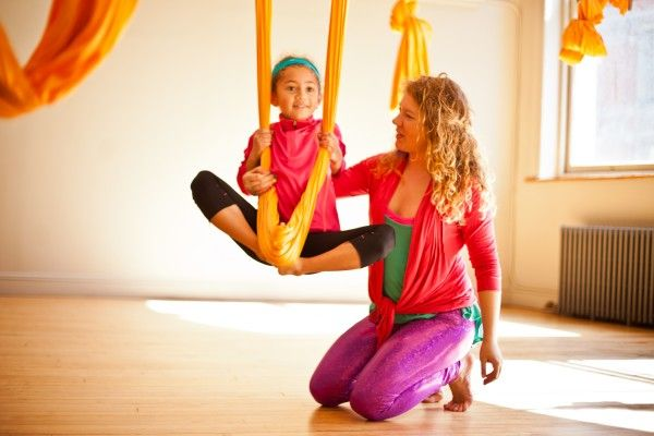 Kids' Aerial Yoga at OM Factory in NYC