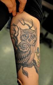 Corey Miller owl tattoo