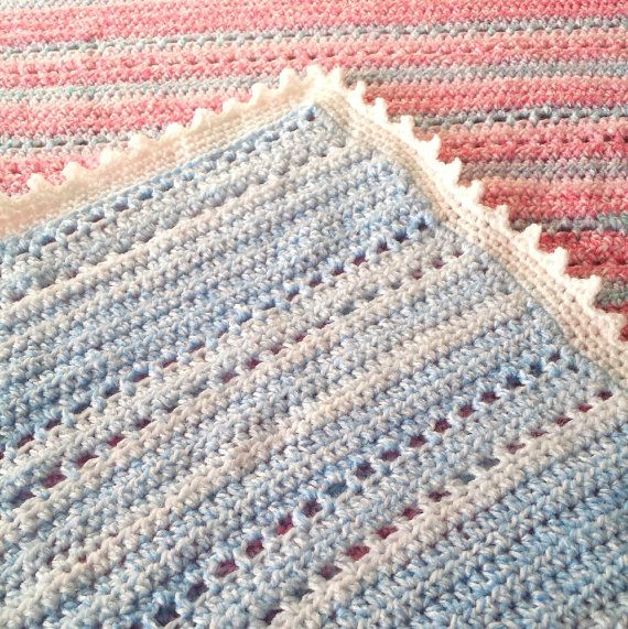 Blue baby blanket https://www.etsy.com/listing/220223678/crochet-baby-afghan-blue-blanket-with