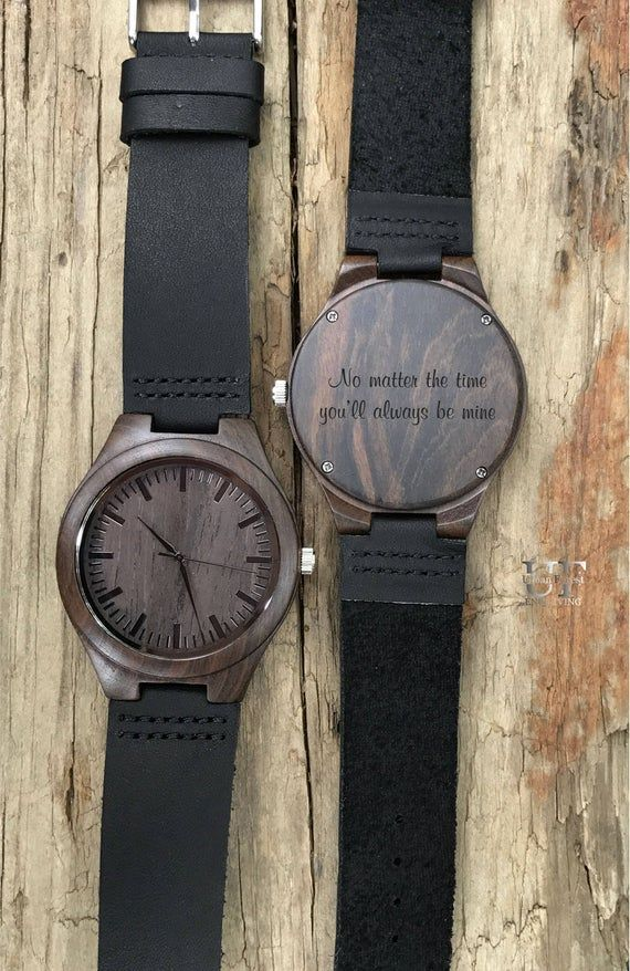 Personalized Gifts for Men Gift Husband Gifts for Dad Gift for Boyfriend Gift, Engraved Watch, Wooden Watch, Brother Gift, Wood Watch Men