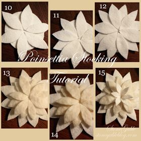 StoneGable: CHRISTMAS IN JULY~ POINSETTIA STOCKING TUTORIAL