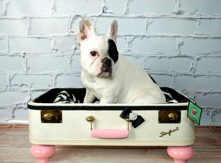 The Princess Suitcase dog bed - White. $185.00, via Etsy.