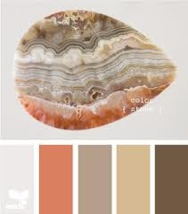 Coral and gray color scheme