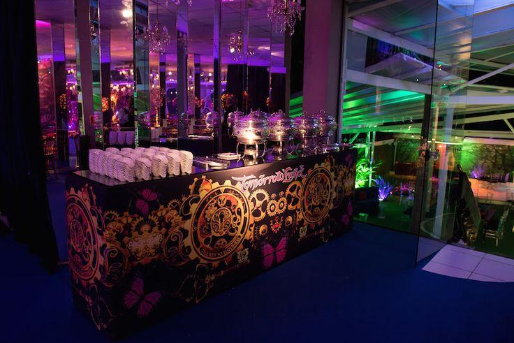 Festa tema Tomorrowland: buffet - Foto: Luiz Claudio Fotografia
