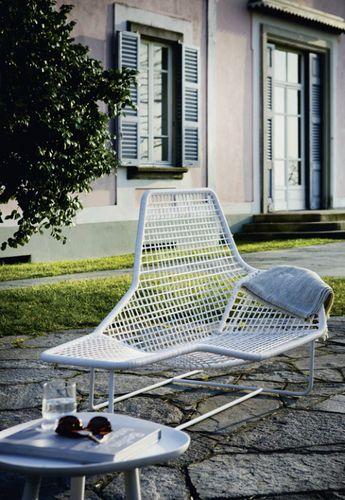 Chaise longue LAMA - acciaio e PVC - da esterni - by Ludovica & Roberto Palomba - Zanotta