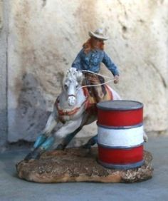 Someone needs to buy this and ask me to use if for their cake order!!! PLEASE!! :) $16.99 Ceramic Barrel Racing Cowgirl. Free Shipping.