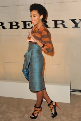 Solange killing it in Burberry Prorsum.