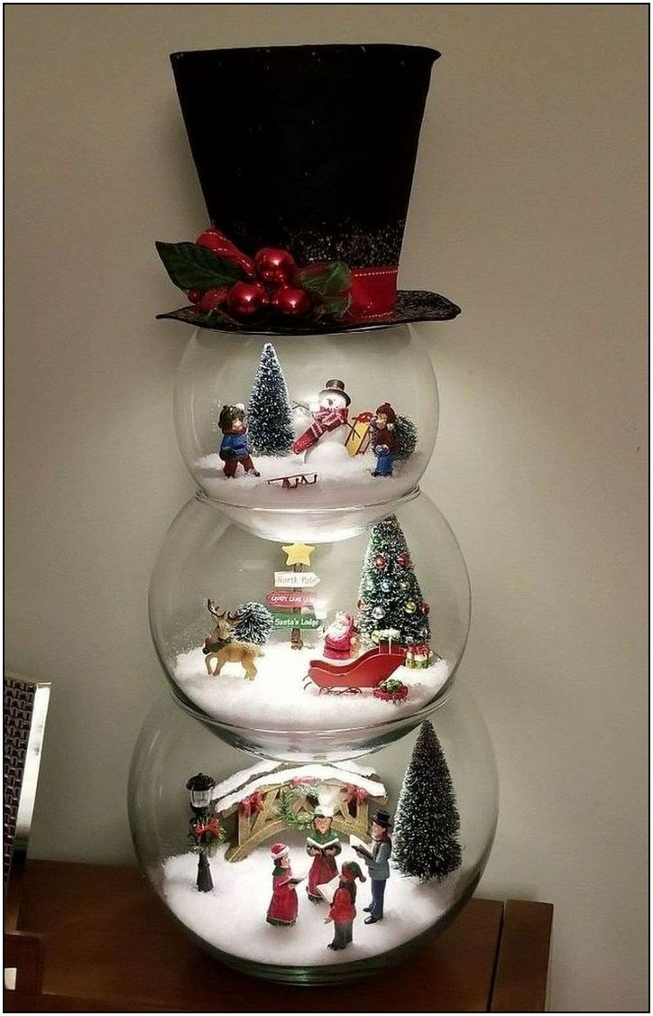 127 Festive Christmas Table Decorations To Brighten Up Your Feast Page 7 Easy Christmas Decorations Snowman Christmas Decorations Easy Christmas Diy