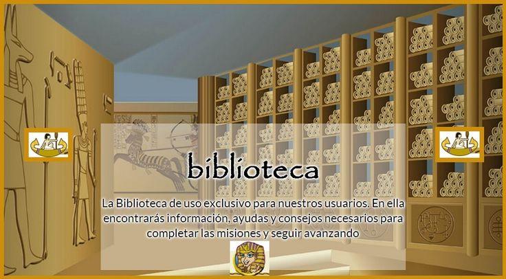 En la Biblioteca encontrarás toda la información para ir cumpliendo las misiones y alcanzar la cima de la pirámide