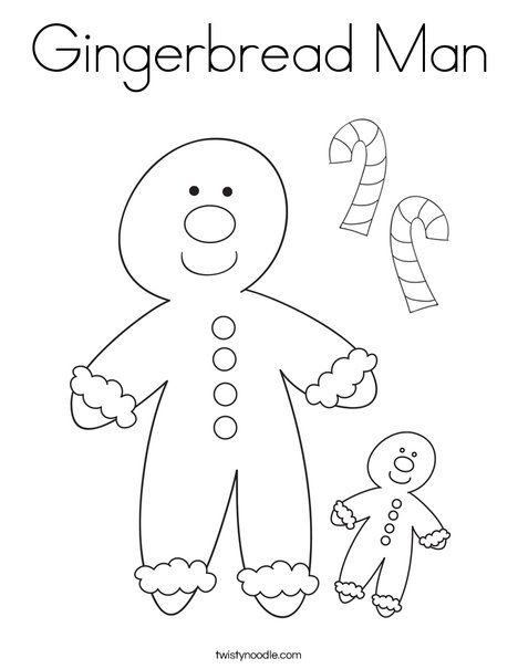 gingerbread man coloring page twisty noodle