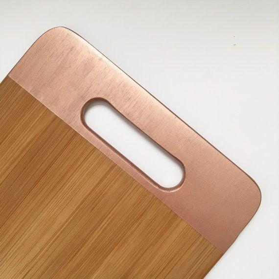Ready to ship Bamboo Cutting Board Copper by DesignerDwellings