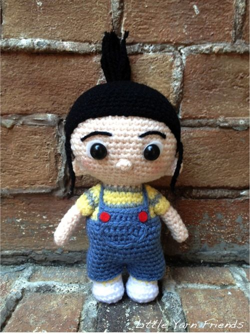 Amigurumi Lil' Agnes from the movie Despicable Me - FREE Crochet Pattern and Tutorial