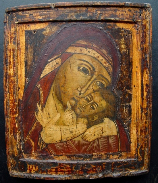 Mother of God of Korsun, around 1700, Russian icon, tempera on wooden board,