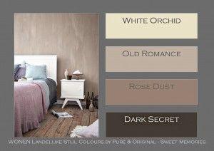 WONEN Landelijke Stijl colours by Pure & Original. Op elkaar afgestemde kleuren in de kalkverf en krijtverf.