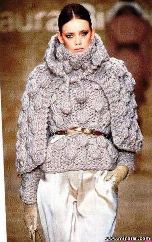 вязаный пуловер и накидка вязание вязание от дизайнеров лаура