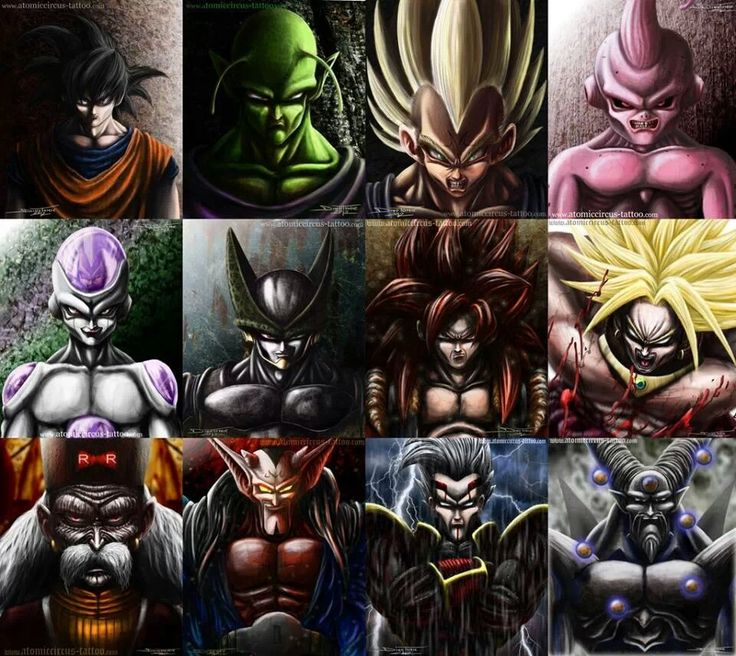 Dragon Ball Z Anime Characters Database : Really detailed drawings of dbz characters dragonball z