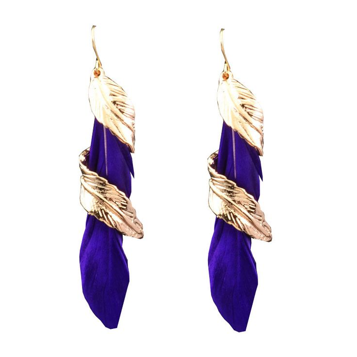 New fashion jewelry white feather dangle tassel earring mix color gift for women girl wholesale E3031