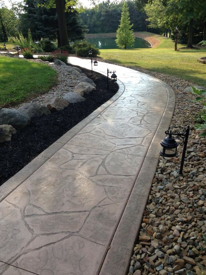 60 Best Images About Outside House On Pinterest Concrete Walkway Stamped Concrete Walkway And