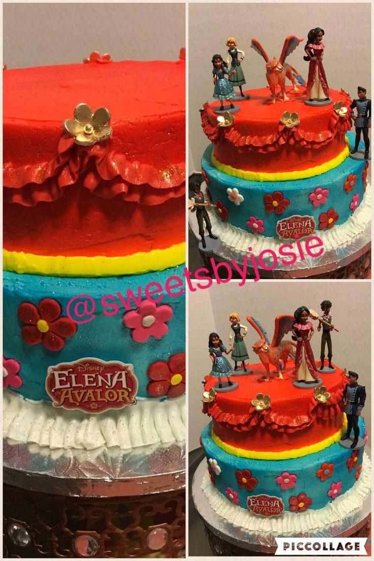 Elena of Avalor buttercream cake by sweetsbyjosie #sweetsbyjosie.