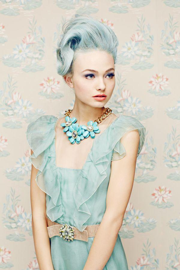 Pale blue fashion - Macaroons by Julia Galdo, via Behance