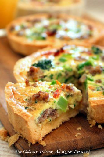 The Culinary Tribune › Sausage Broccoli Sund-dried Tomato Quiche<br>ブロッコリとサンドライトマト入りキッシュ