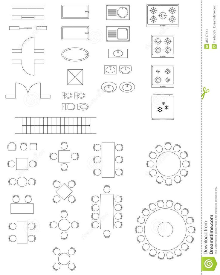 Standard Symbols Used In Architecture Plans