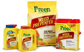 Preen Garden Weed Preventer -   Recommended for preventing weed grass in garden beds with rock mulch